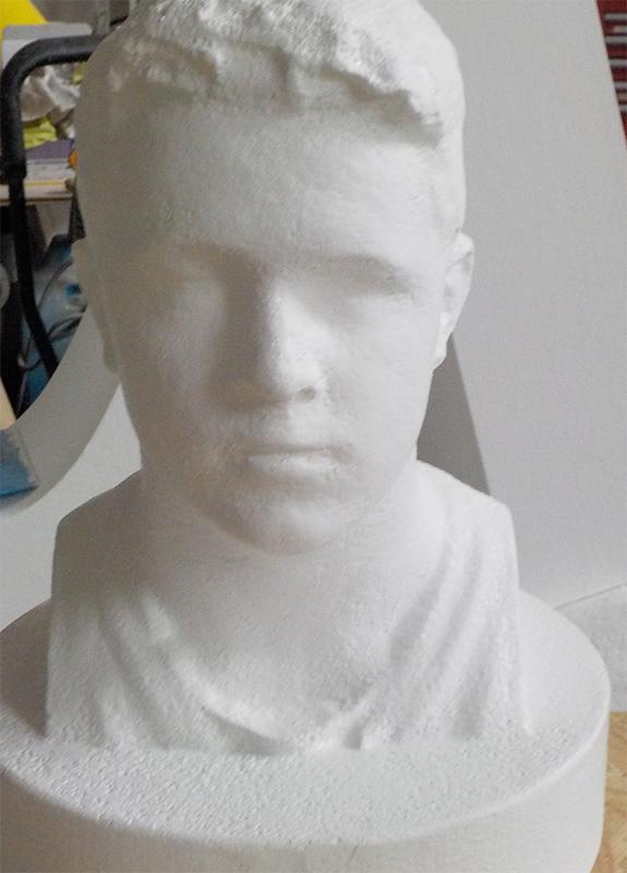 Weiße 3D Skulptur   Männerbüste